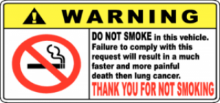 Warning No Smoking