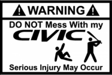 Do not mess with my Civic