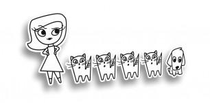 девушка с котами